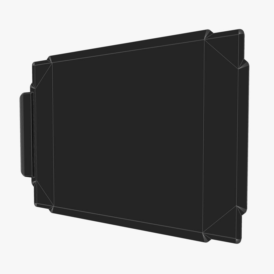 A4-gegevensblok royalty-free 3d model - Preview no. 4