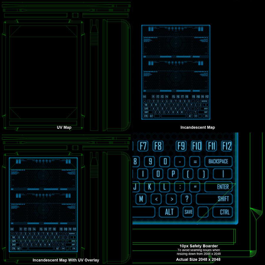 A4-gegevensblok royalty-free 3d model - Preview no. 18