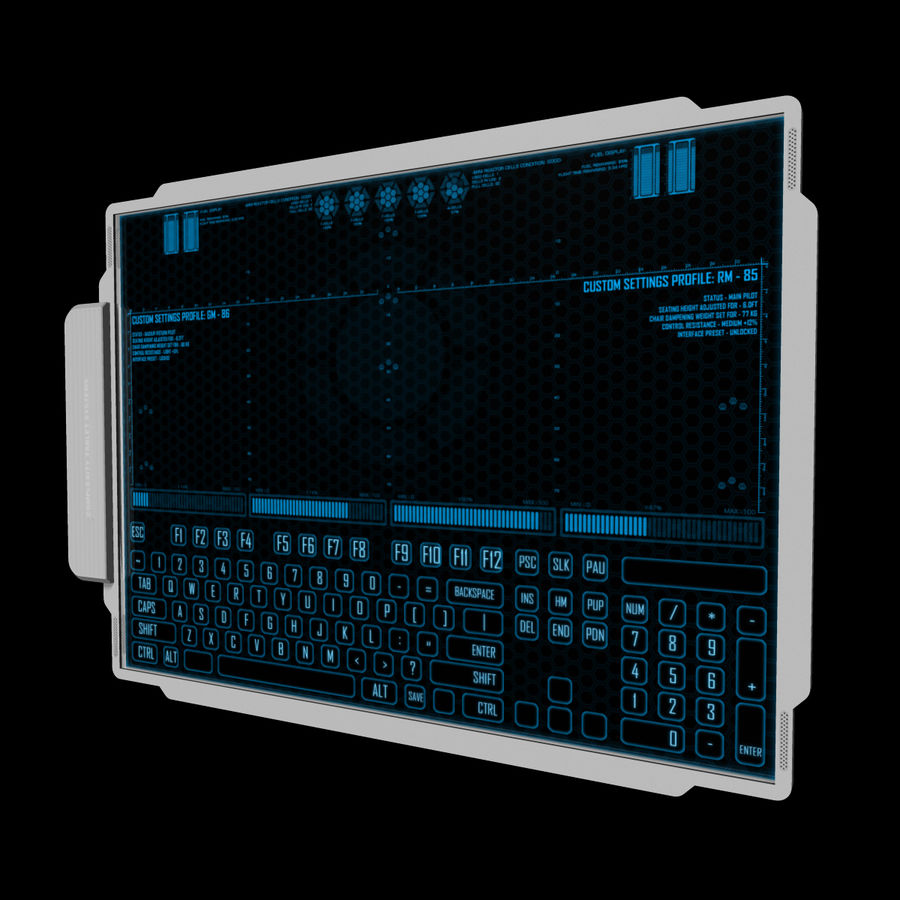 A4-gegevensblok royalty-free 3d model - Preview no. 3