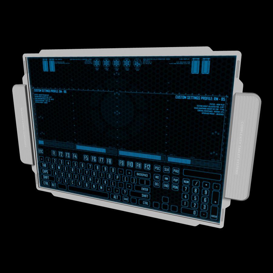 A4-gegevensblok royalty-free 3d model - Preview no. 14