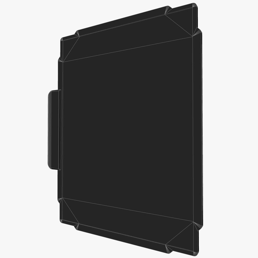 A4-gegevensblok royalty-free 3d model - Preview no. 13