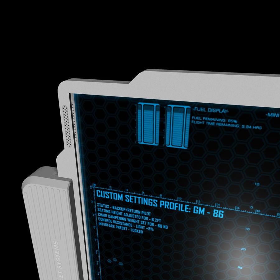 A4-gegevensblok royalty-free 3d model - Preview no. 9