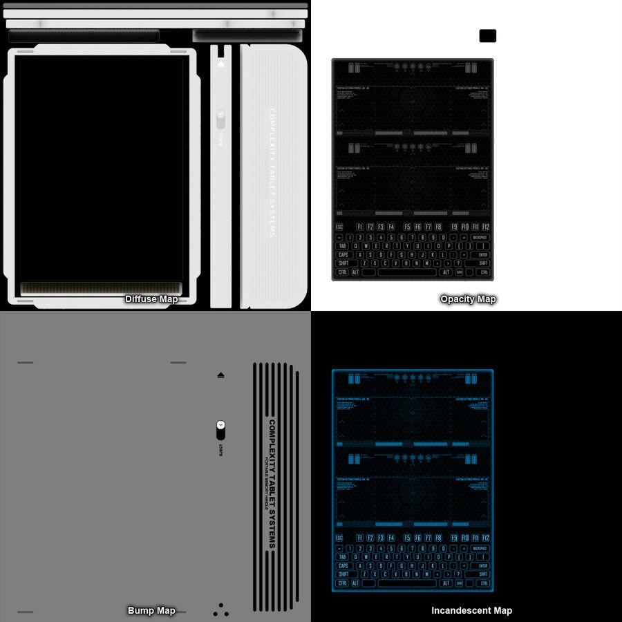 A4-gegevensblok royalty-free 3d model - Preview no. 17