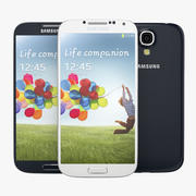 Samsung Galaxy S 4 white and blue 3d model
