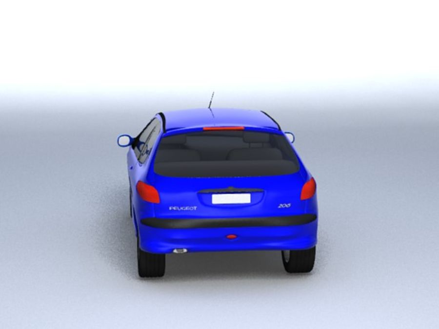 Peugeot 206 royalty-free 3d model - Preview no. 5
