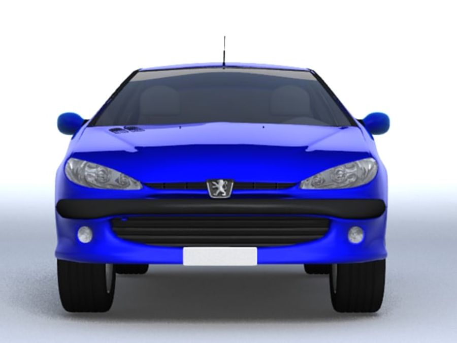 Peugeot 206 royalty-free 3d model - Preview no. 8
