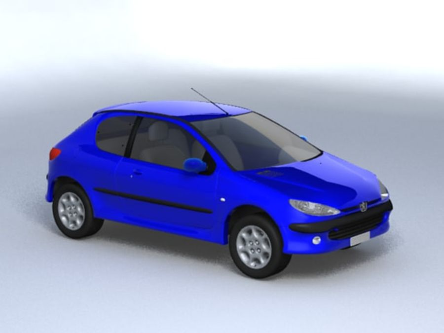 Peugeot 206 royalty-free 3d model - Preview no. 1
