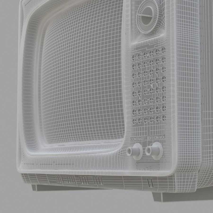 Retro Television royalty-free 3d model - Preview no. 6