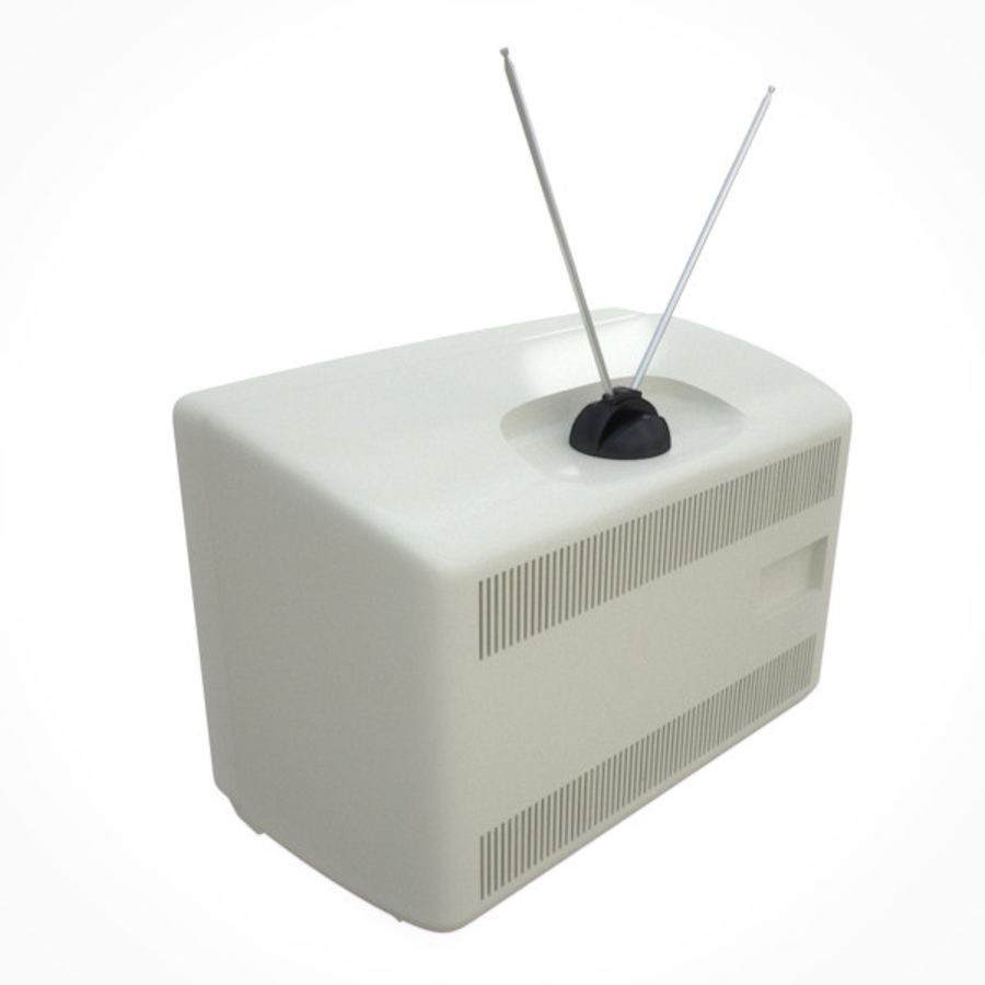 Retro Television royalty-free 3d model - Preview no. 4