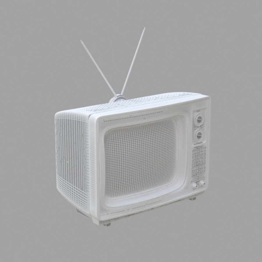 Retro Television royalty-free 3d model - Preview no. 5