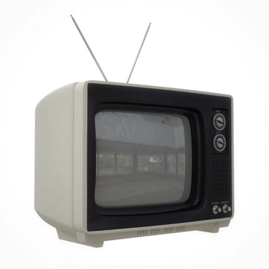 Retro Television royalty-free 3d model - Preview no. 1