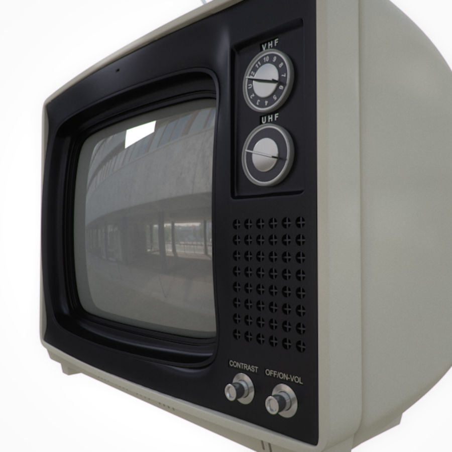 Retro Television royalty-free 3d model - Preview no. 3
