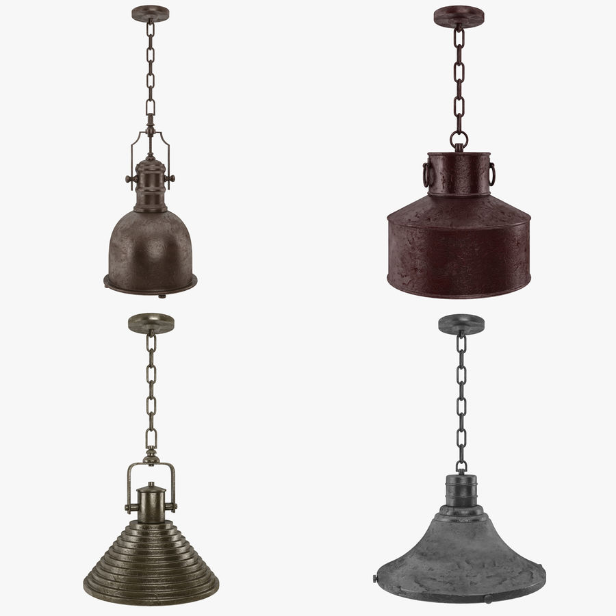 Pendant Lamp Vintage Collection royalty-free 3d model - Preview no. 1