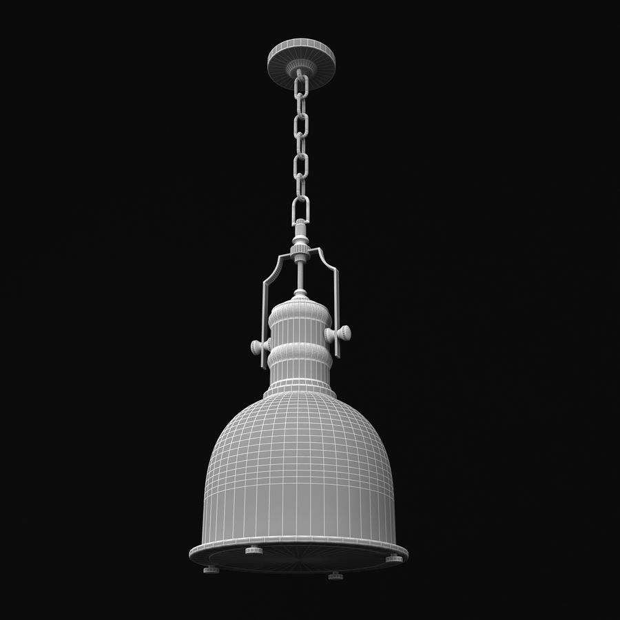 Pendant Lamp Vintage Collection royalty-free 3d model - Preview no. 23