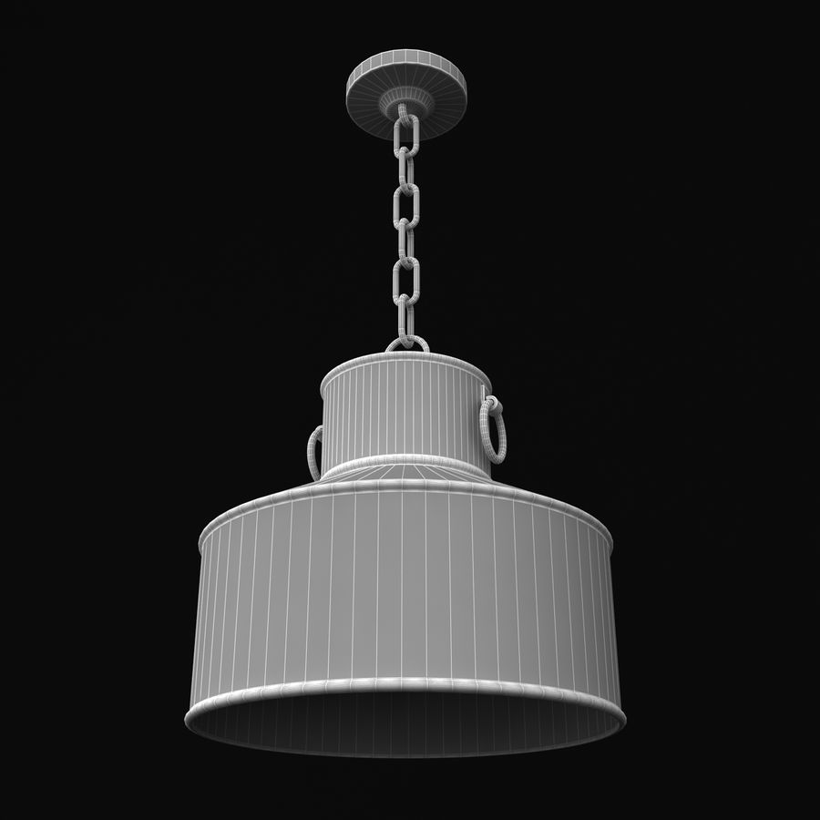 Pendant Lamp Vintage Collection royalty-free 3d model - Preview no. 25