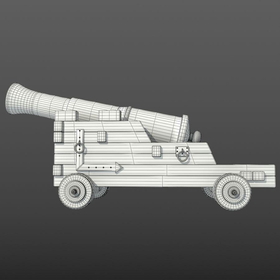 Canhão royalty-free 3d model - Preview no. 6
