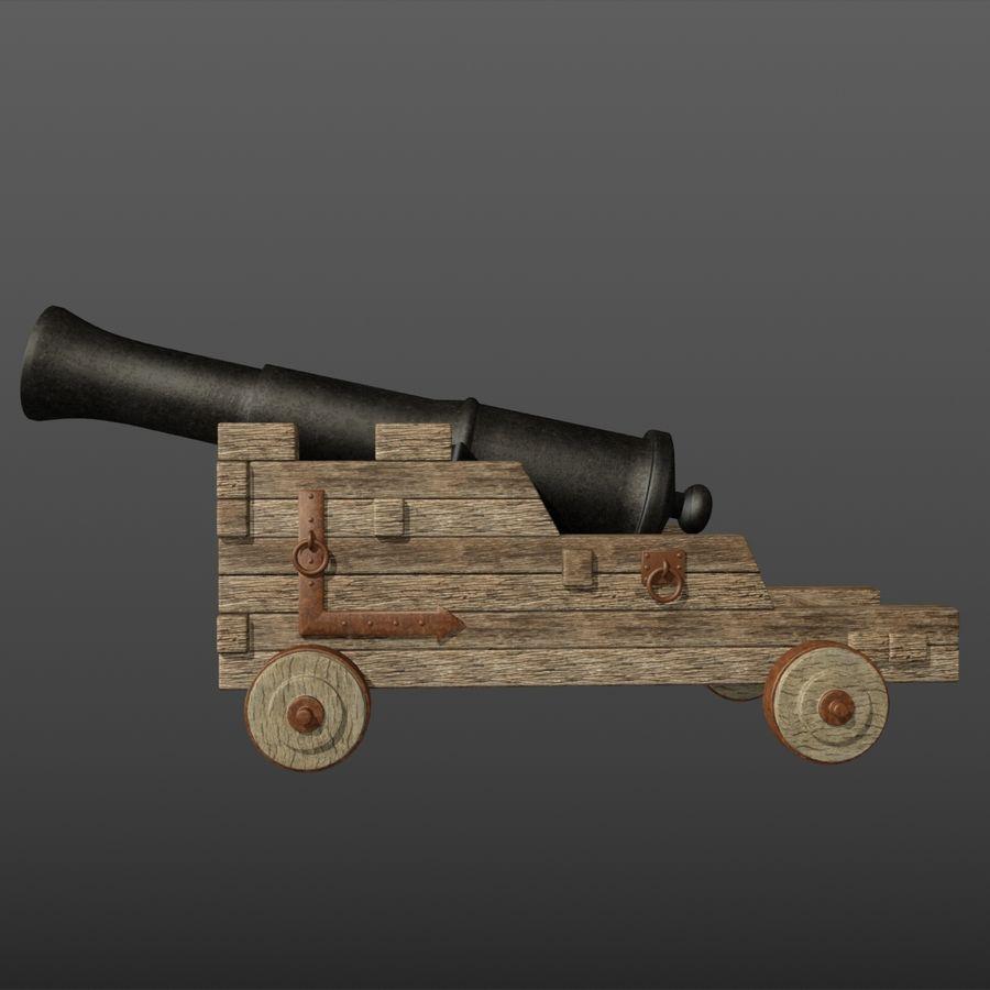 Canhão royalty-free 3d model - Preview no. 3
