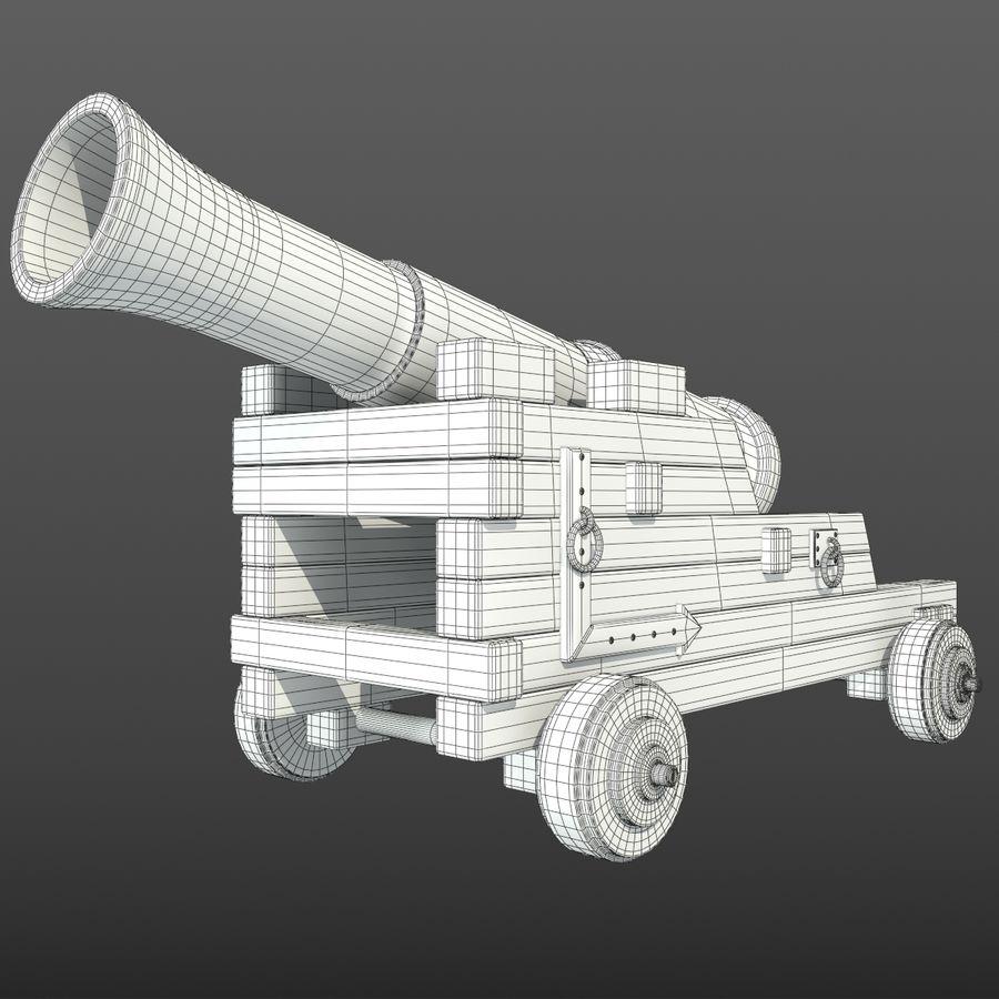 Canhão royalty-free 3d model - Preview no. 5