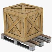 Caixote de madeira 3d model