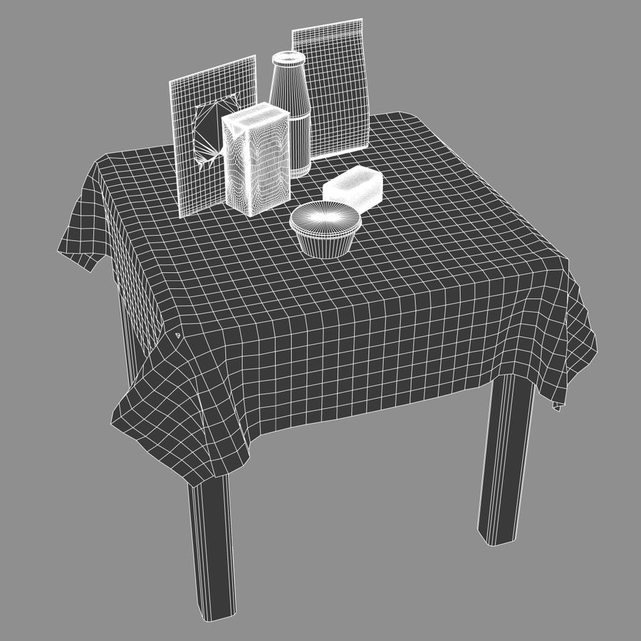 Verpacktes Essen royalty-free 3d model - Preview no. 11