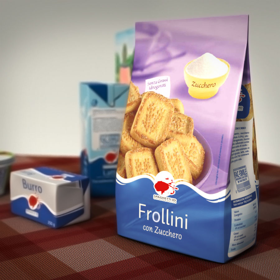 Verpacktes Essen royalty-free 3d model - Preview no. 5