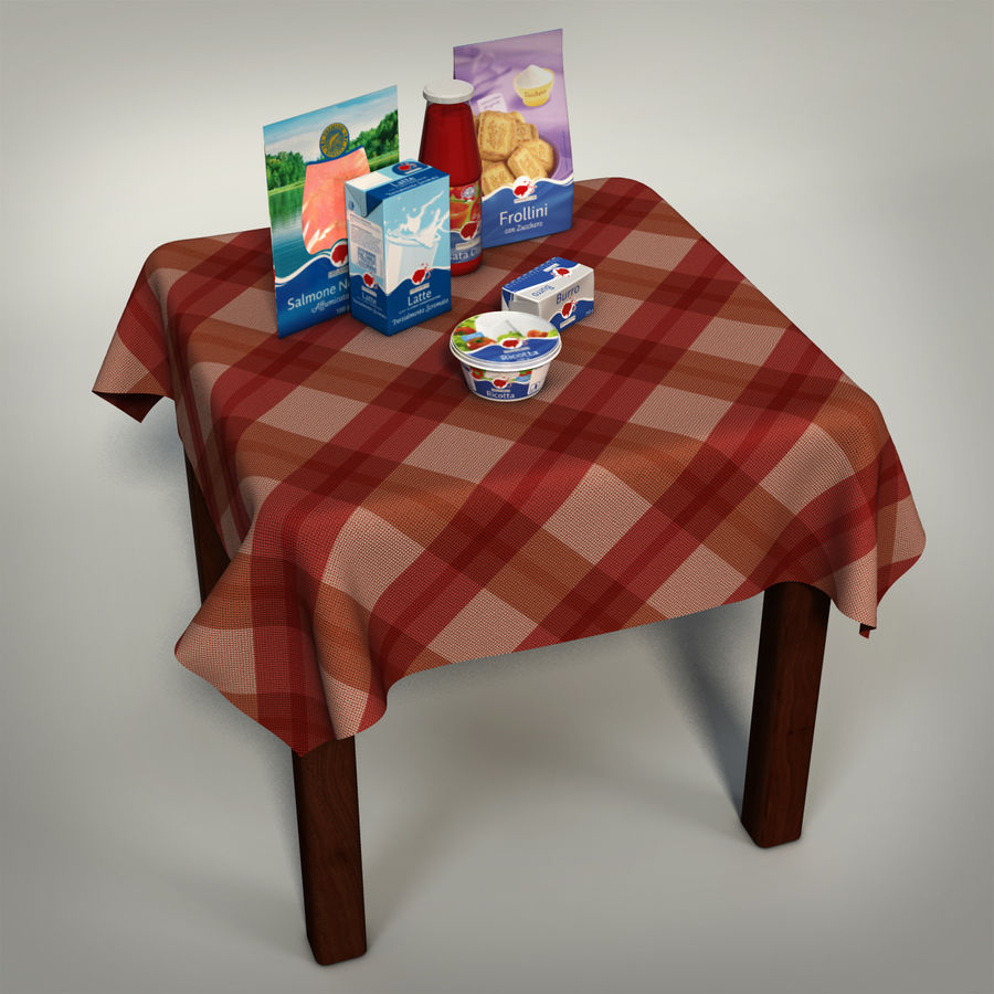Verpacktes Essen royalty-free 3d model - Preview no. 2
