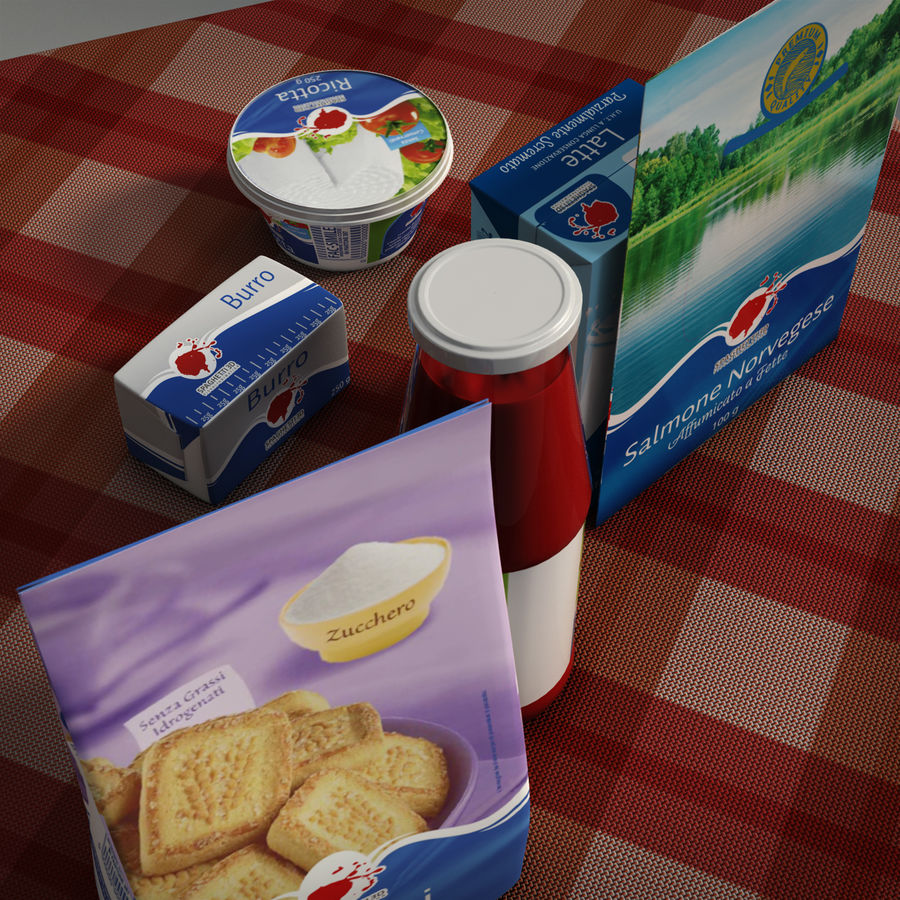 Verpacktes Essen royalty-free 3d model - Preview no. 6