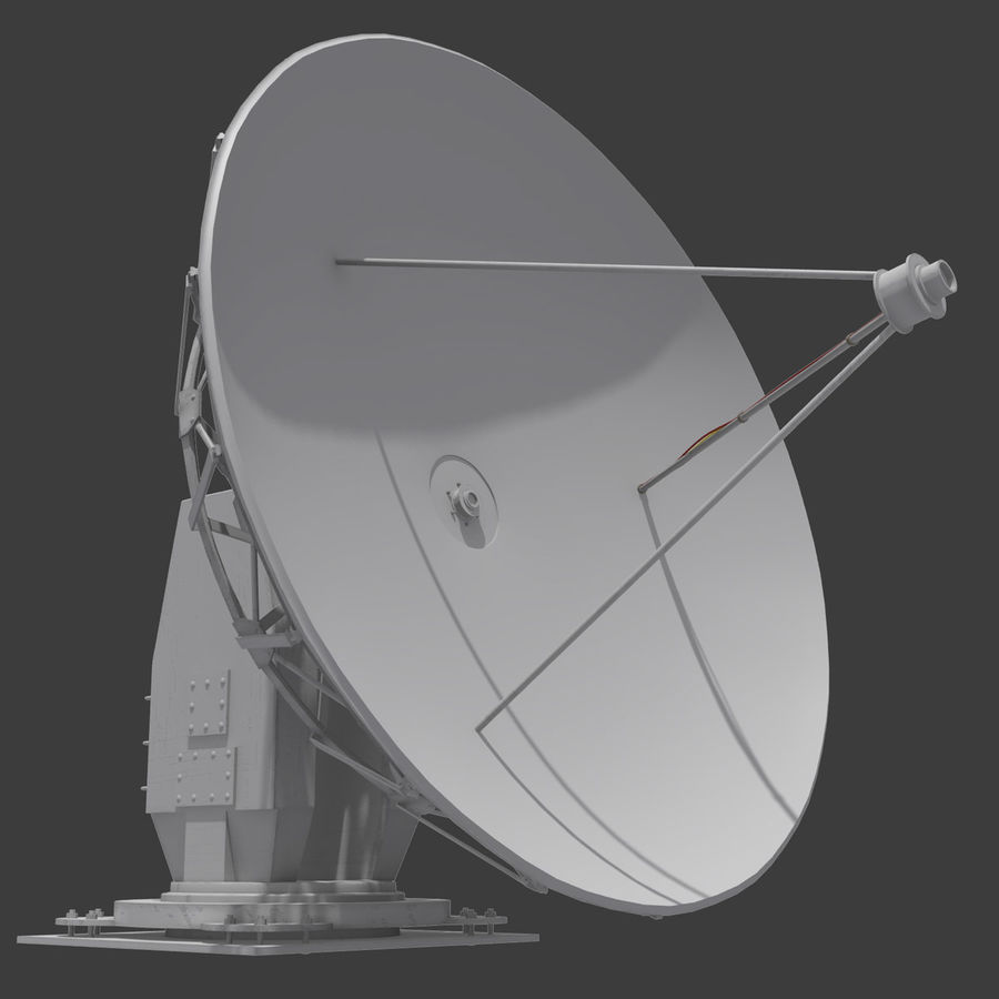 Antena parabólica royalty-free modelo 3d - Preview no. 2