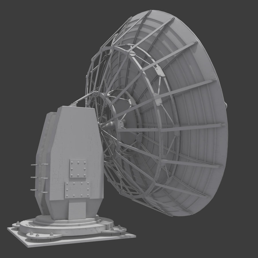 Antena parabólica royalty-free modelo 3d - Preview no. 4