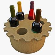Wine Rack 4 3d model