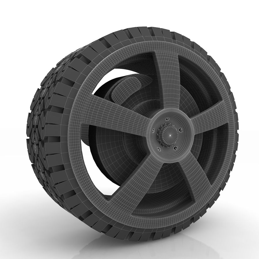 Sport Car Wheel royalty-free 3d model - Preview no. 8