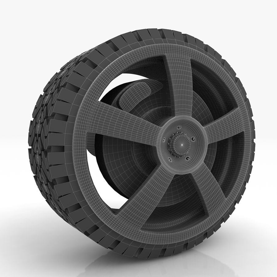 Sport Car Wheel royalty-free 3d model - Preview no. 9