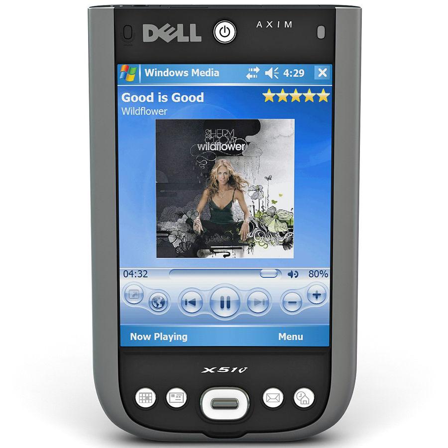 Dell Axim X51v royalty-free 3d model - Preview no. 3