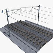 Speed Train Railroad track 3d model