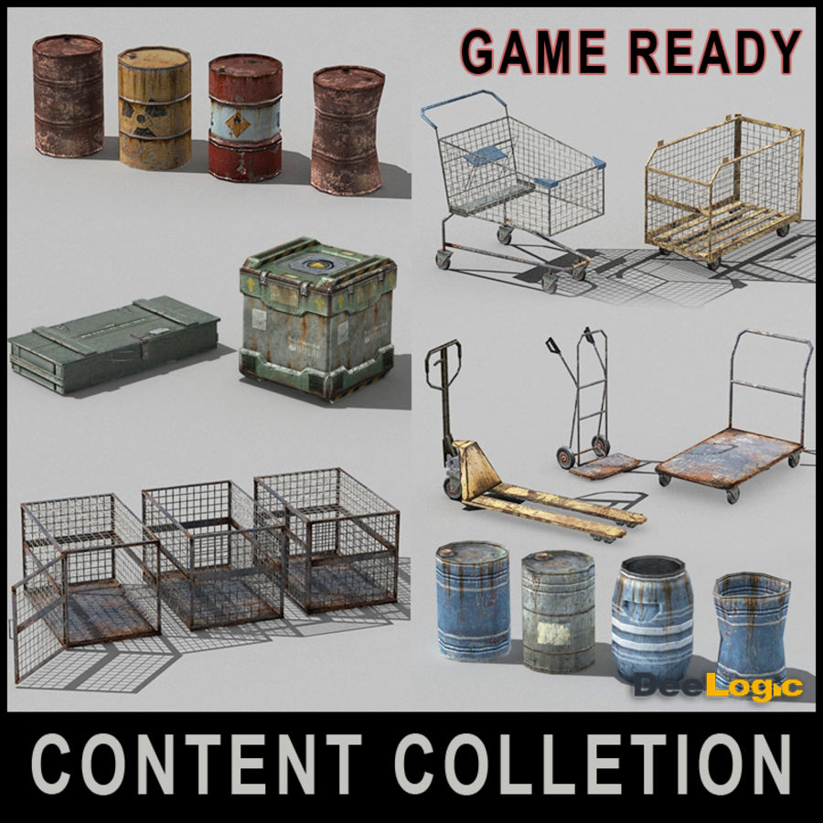Content col.1 royalty-free 3d model - Preview no. 1