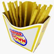 Pommes frittes 3d model