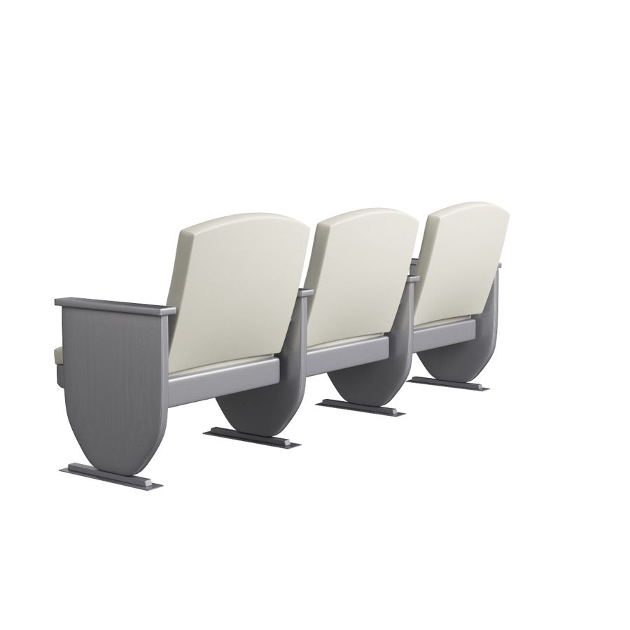 Armchair Auditorium Cinema 008 royalty-free 3d model - Preview no. 6
