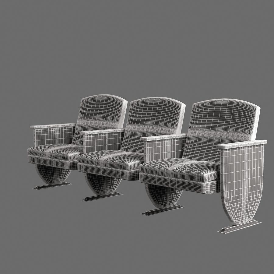 Armchair Auditorium Cinema 008 royalty-free 3d model - Preview no. 8