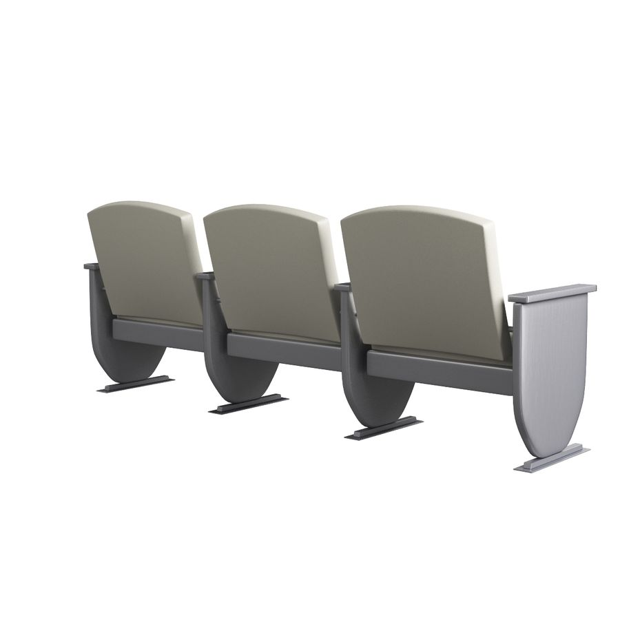 Armchair Auditorium Cinema 008 royalty-free 3d model - Preview no. 5