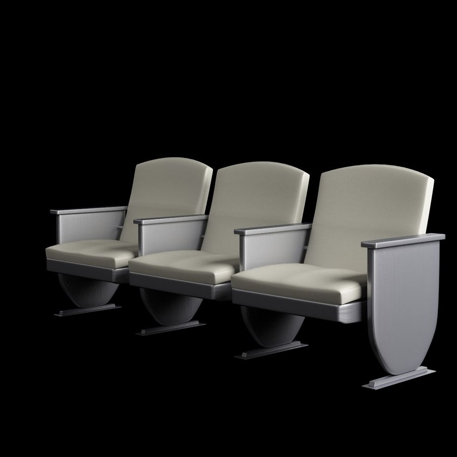 Armchair Auditorium Cinema 008 royalty-free 3d model - Preview no. 2