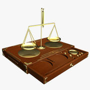Antique Scales With Box 3d model