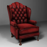 Classic Leather Cushion Chair 3d model