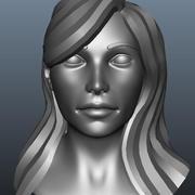 여성 머리 3d model