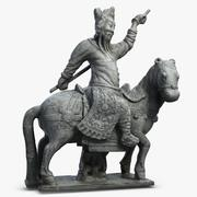 Guardian On Horse 1 3d model