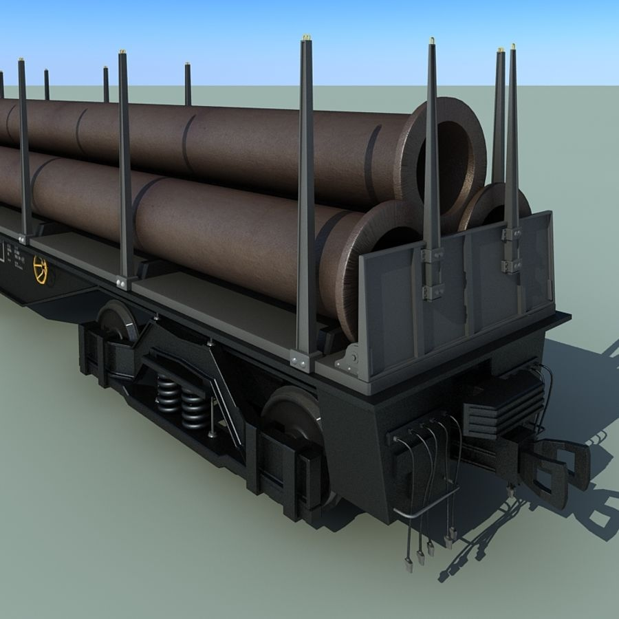 Wagon royalty-free 3d model - Preview no. 5