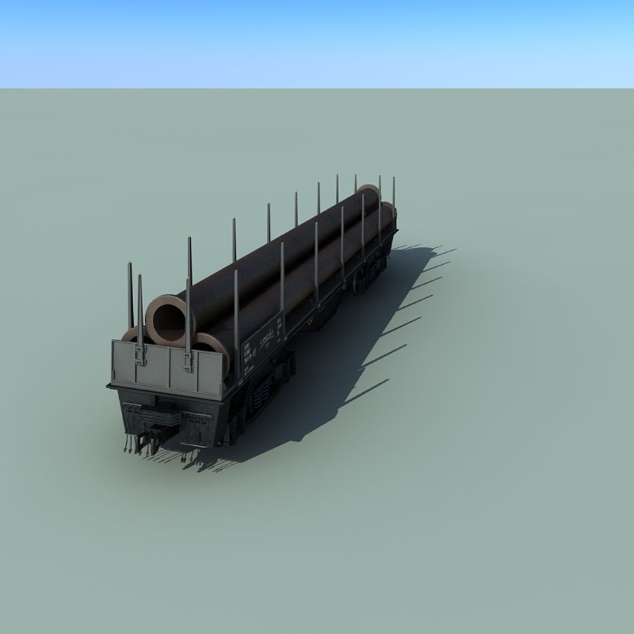 Wagon royalty-free 3d model - Preview no. 16