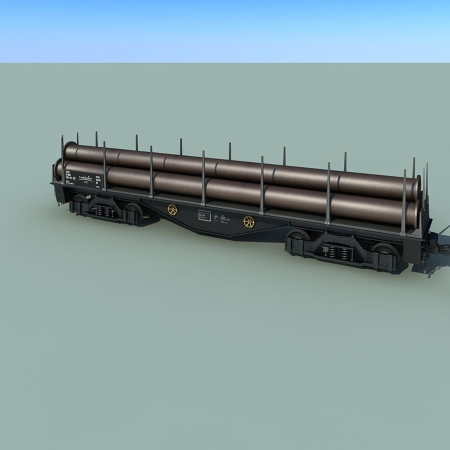 Wagon royalty-free 3d model - Preview no. 11