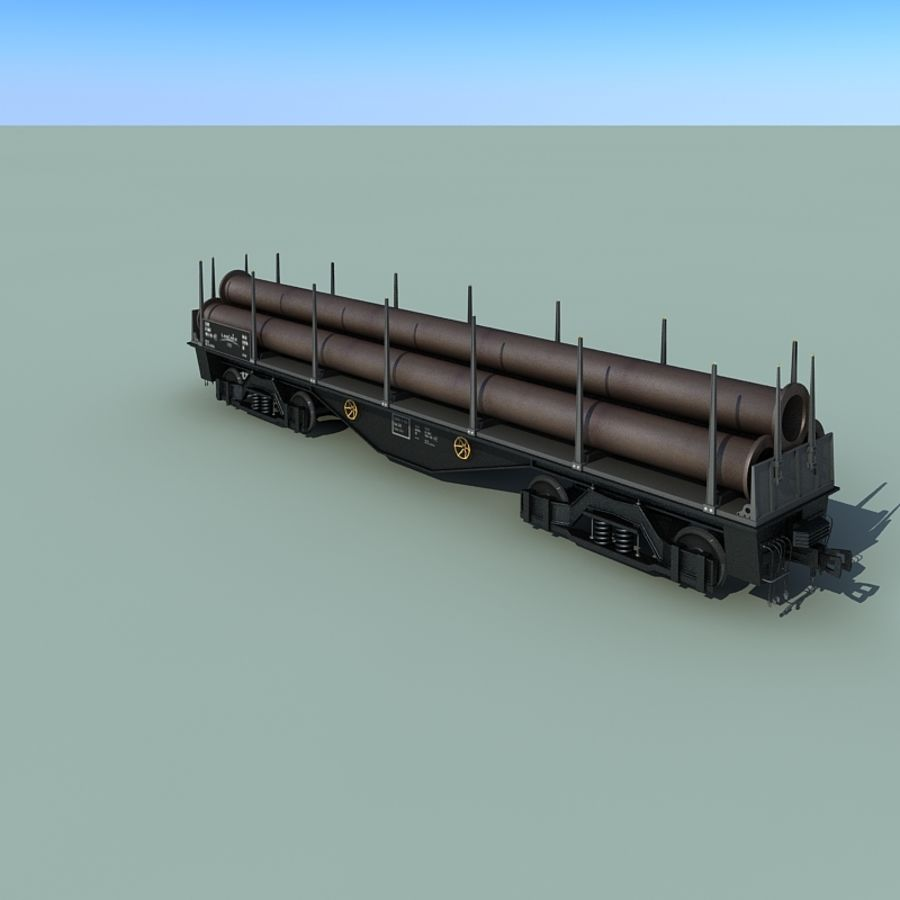 Wagon royalty-free 3d model - Preview no. 19