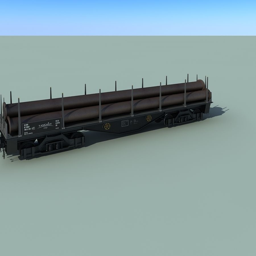 Wagon royalty-free 3d model - Preview no. 14