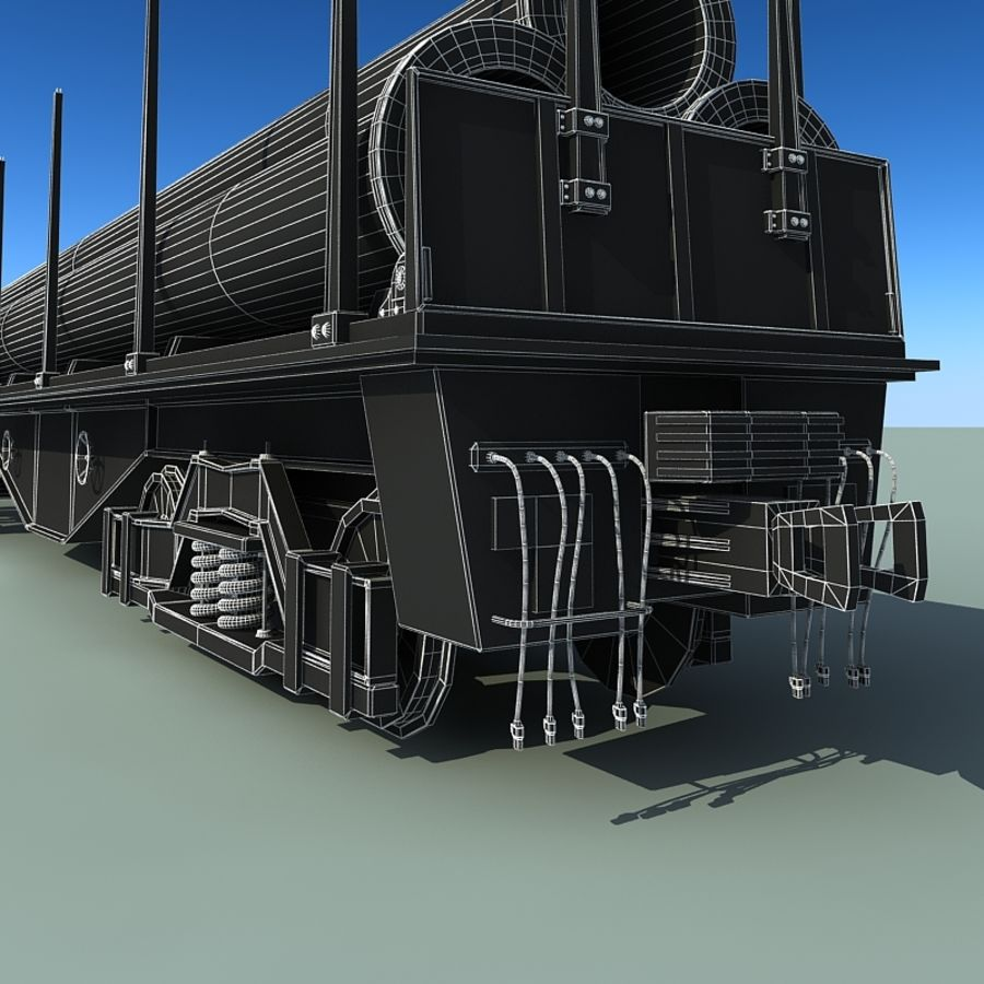 Wagon royalty-free 3d model - Preview no. 9